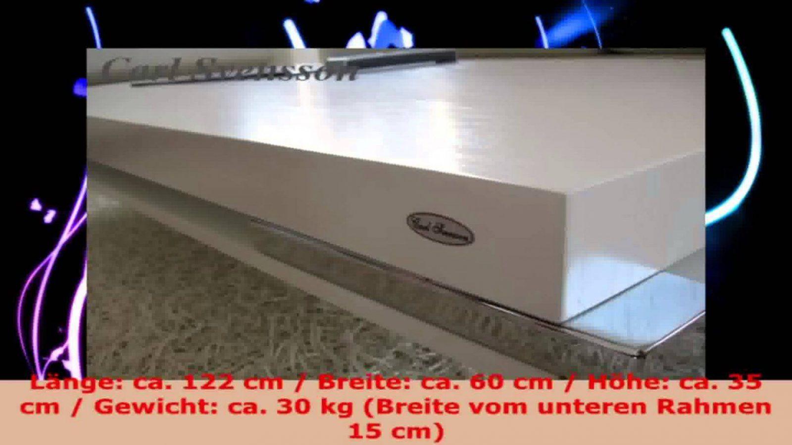 Design Couchtisch Weiß Tisch Wohnzimmertisch K111 Chrom Carl von Carl Svensson Couchtisch Photo