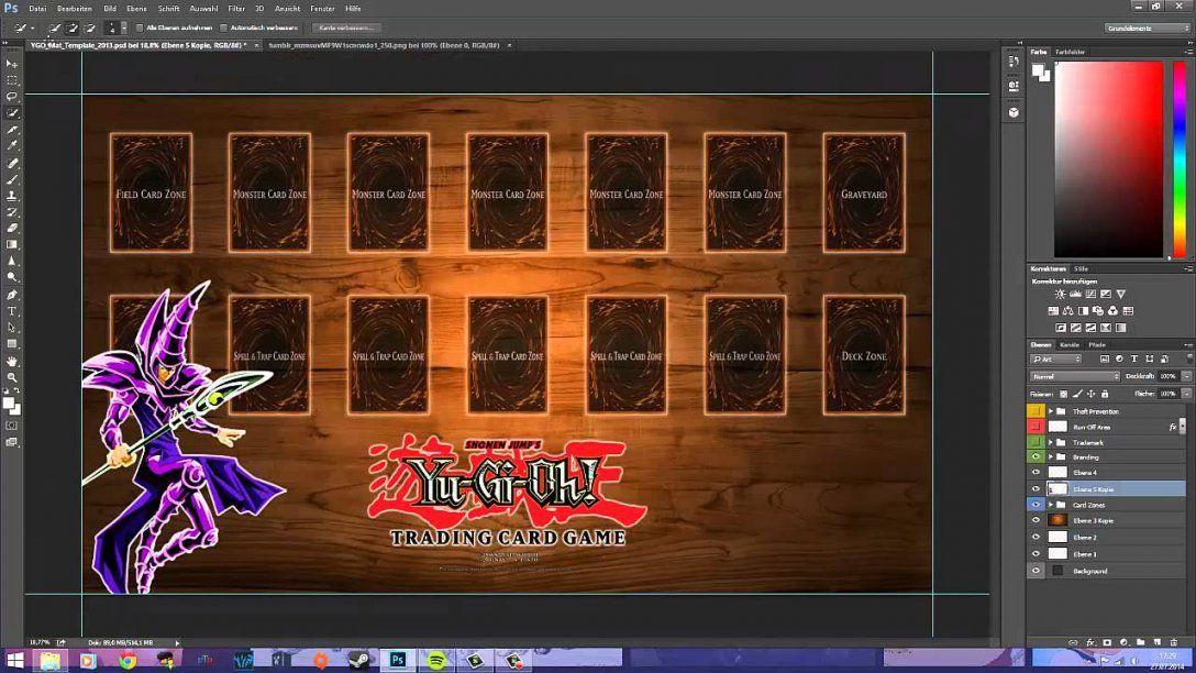 Design Einer Yugioh Spielmatte Erstellen D  Youtube von Yugioh Karten Selbst Erstellen Bild