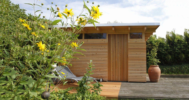 Design Gartenhaus Classic  Das Flachdach Gartenhausgerätehaus von Moderne Gartenhäuser Aus Holz Photo