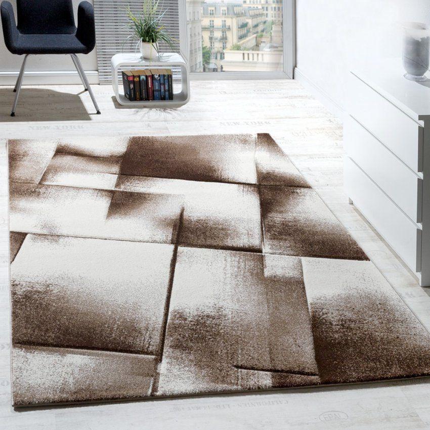 Designer Teppich Modern Wohnzimmer Teppiche Kurzflor Meliert Braun Von Wohnzimmer  Bilder Braun Beige Photo