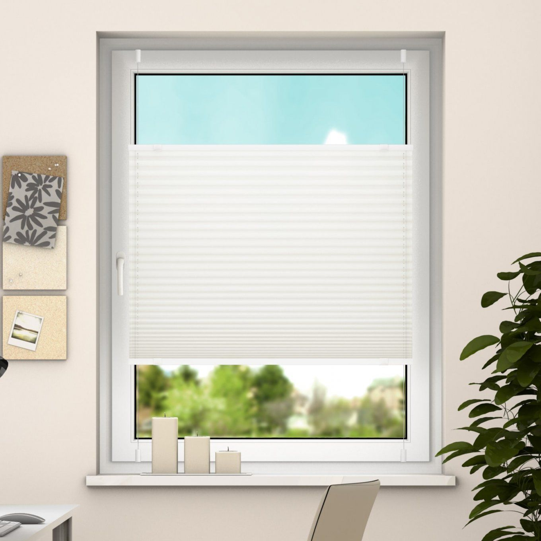 Deswin Plisseerollo 100% Blickdicht Für Fenster Türtüren Klemmfix von Sichtschutz Balkontür Ohne Bohren Bild