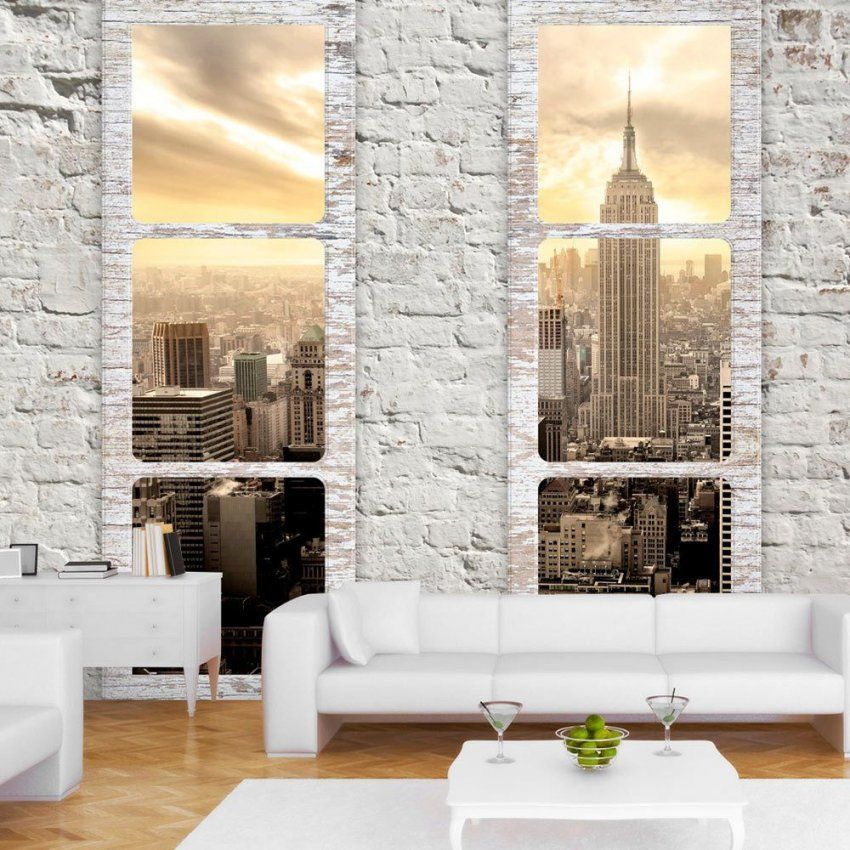 details zu fototapete new york city fensterblick stadt. Black Bedroom Furniture Sets. Home Design Ideas