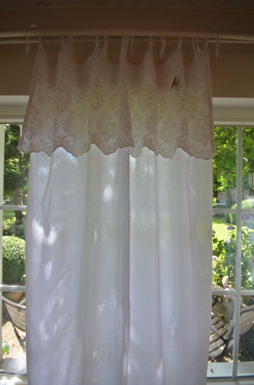 Details Zu Gardine Vorhang Serina Weiß 140 X 250 Landhaus Shabby von Shabby Chic Gardinen Selber Nähen Bild