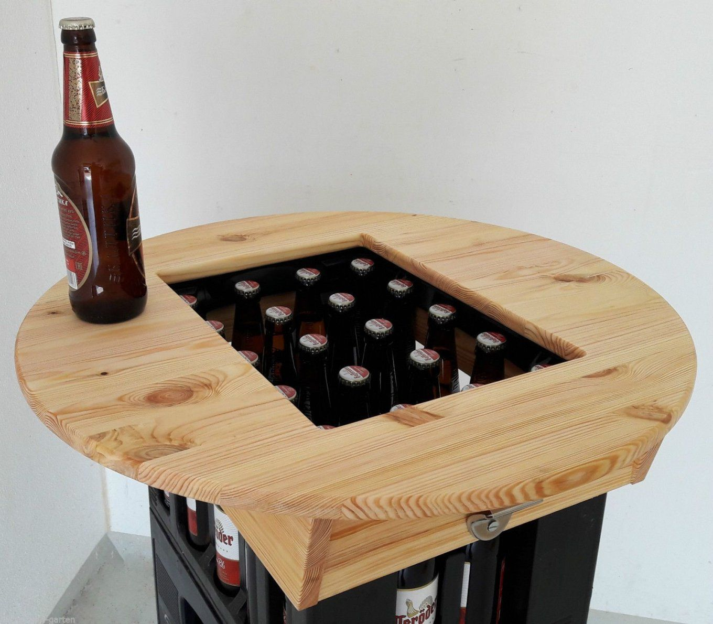 Details Zu Hit Bierkasten Tischaufsatz Partytisch Stehtisch von Theke Selber Bauen Bierkästen Bild