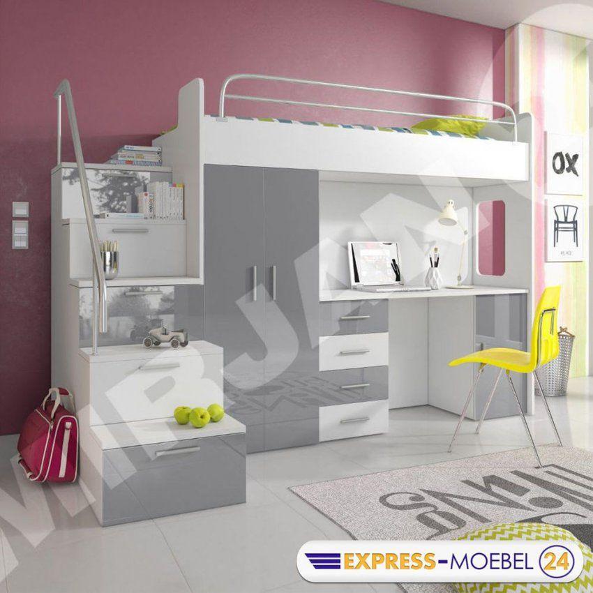 Details Zu Hochbett Etagenbett Multimo 4S Kinderbett Mit von Kinderbett Mit Schreibtisch Und Kleiderschrank Bild