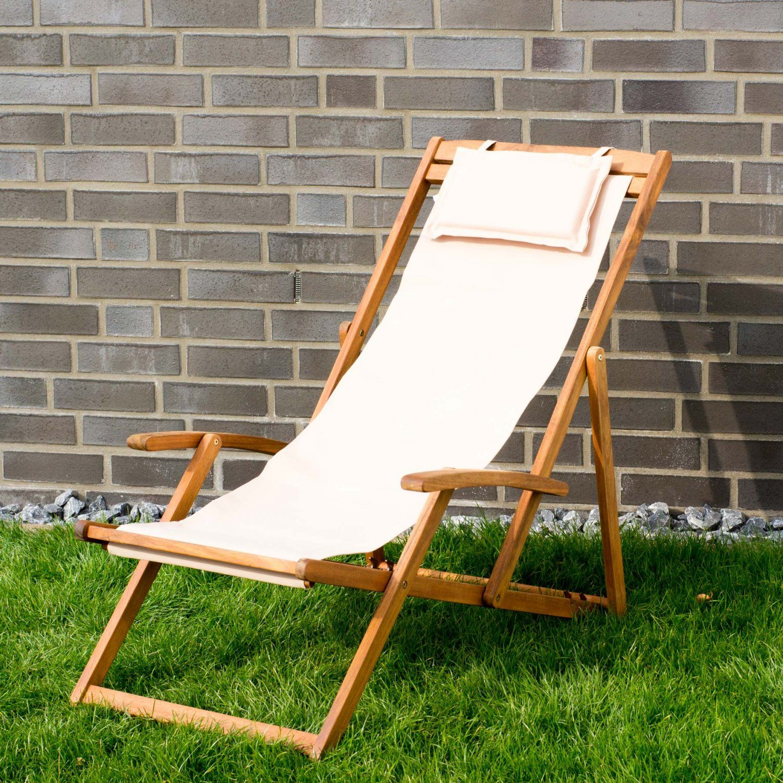 Details Zu Liegestuhl Relaxliege Garten Sonnenliege Strandliege Holz von Relaxliege Für 2 Personen Bild
