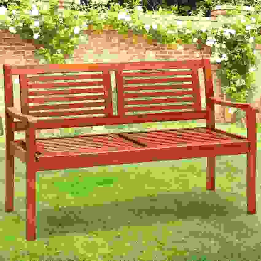 Deuba Gartenbank 2 Sitzer Holzbank Sitzbank Parkbank Bank von Gartenbank Eukalyptus 2 Sitzer Holzbank Photo