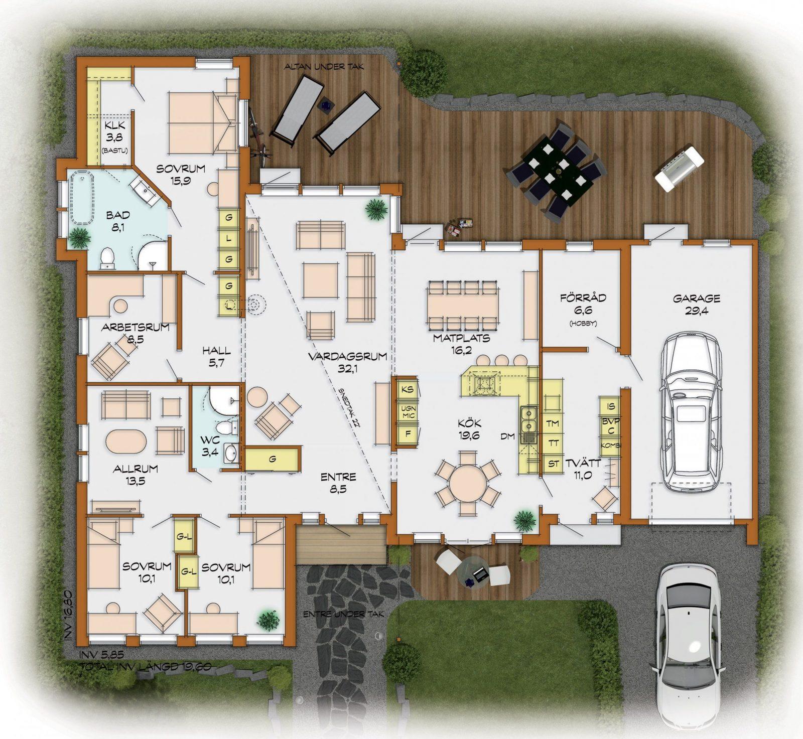 Deutsch Swed House Part 3 Avec Bungalow 4 Zimmer Grundriss Et 35 von Bungalow Grundriss 5 Zimmer Bild