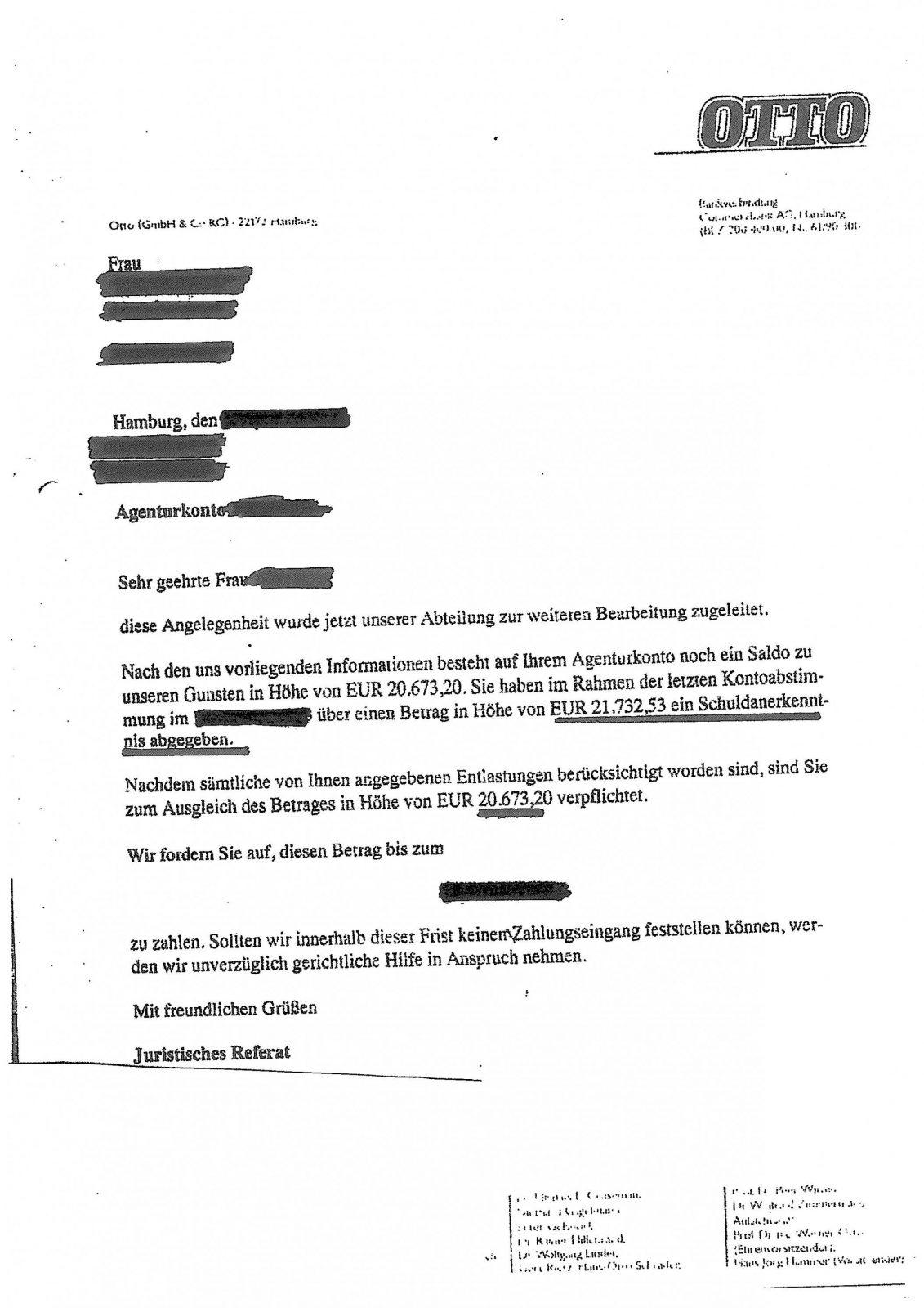 Deutscher Inkassodienst Otto  Ottoshopgeschädigte Info Zum von Deutscher Inkasso Dienst Otto Bild