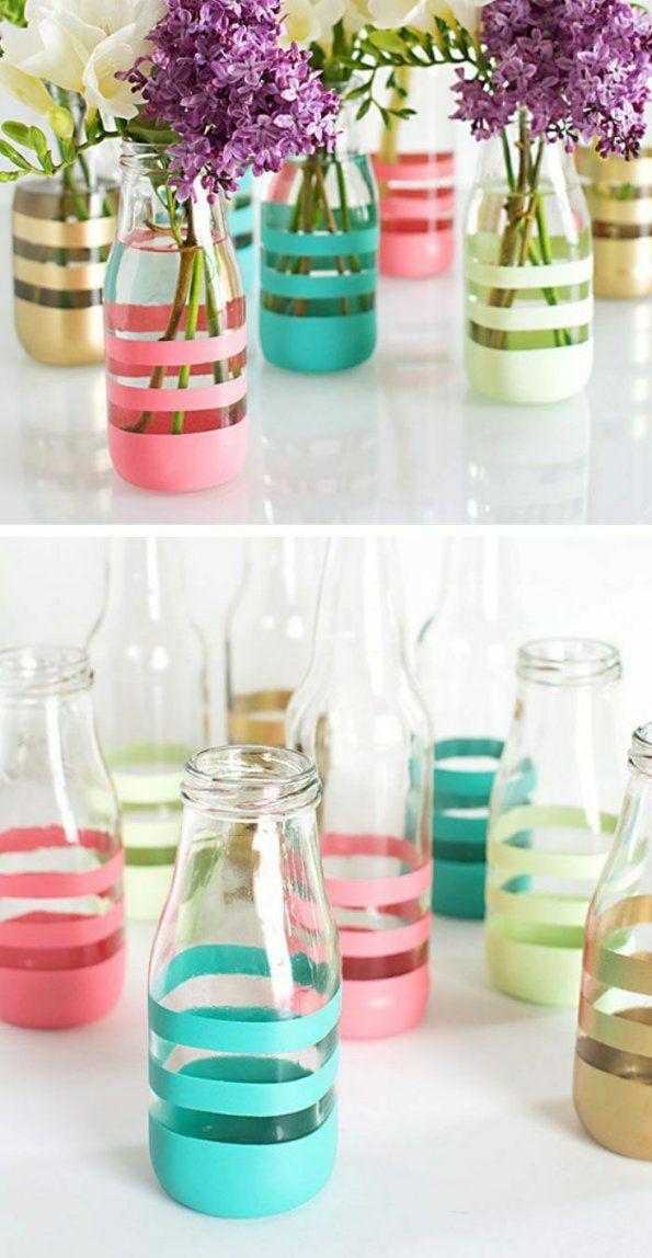 Die 25 Besten Glasflaschen Ideen Auf Pinterest von Recycling Ideen Selber Machen Bild
