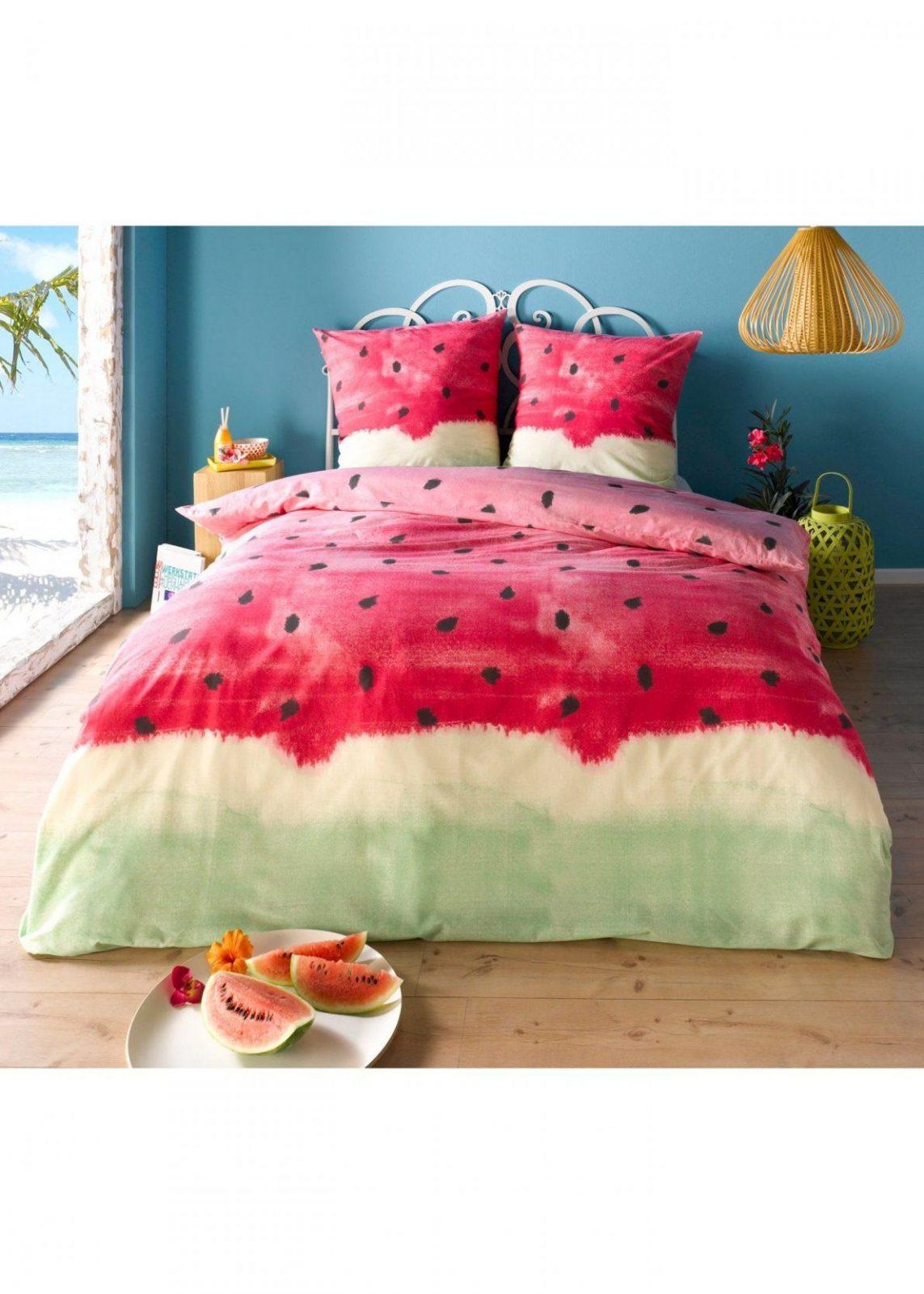 Die Bettwäsche  Melonen Bettbezug Und Bettwaesche von Bettwäsche Selber Gestalten Günstig Bild