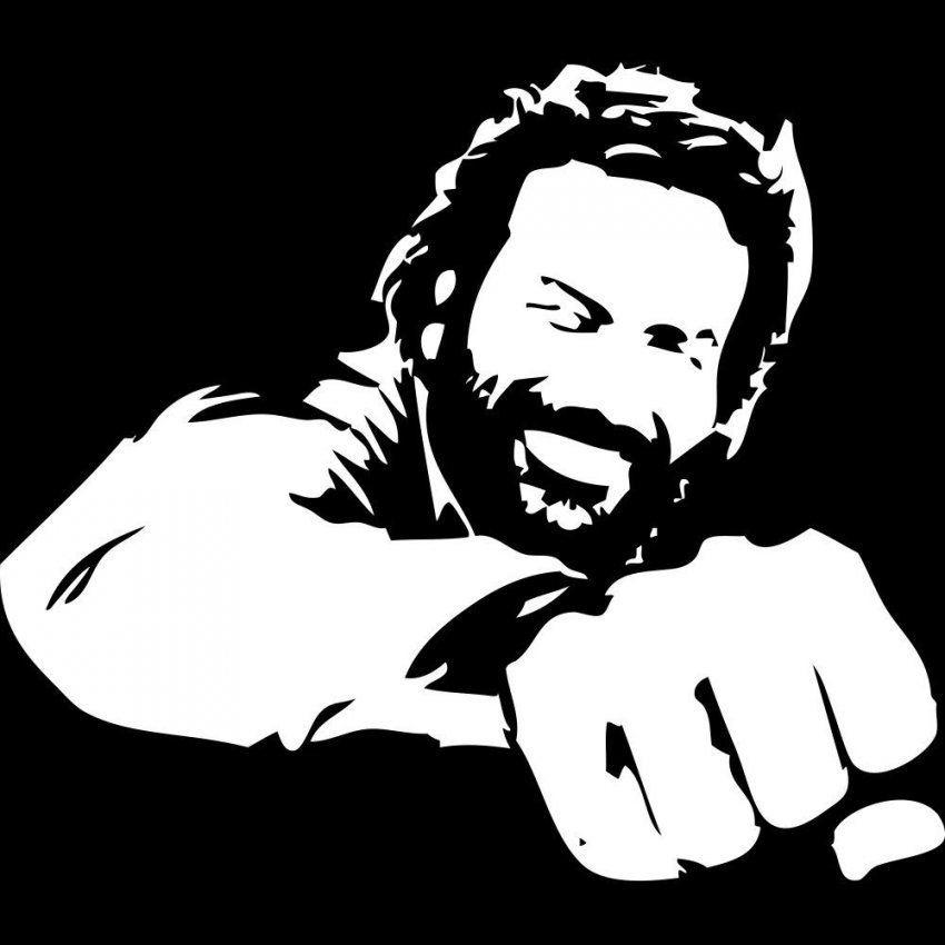 Die Faust Von Oben  Erinnerungen An Bud Spencer  Wwwlomaxdeckard von Bud Spencer Schwarz Weiß Bild