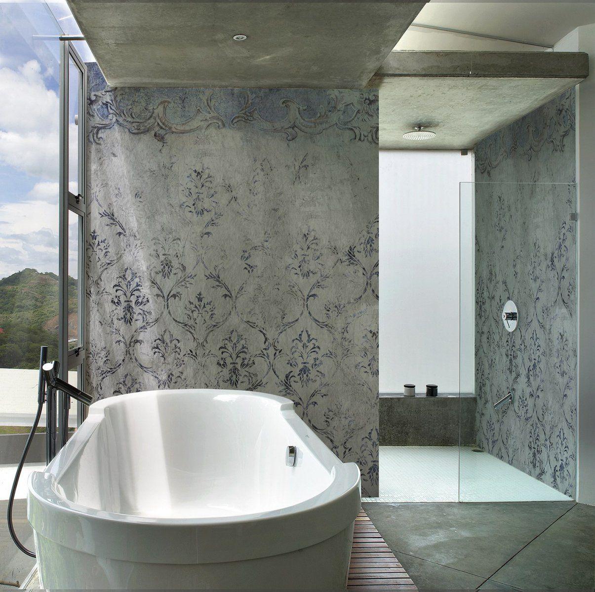 Die Fugenlose Dusche  Trendig Und Chic  Farbefreudeleben von Wasserfeste Farbe Für Dusche Bild