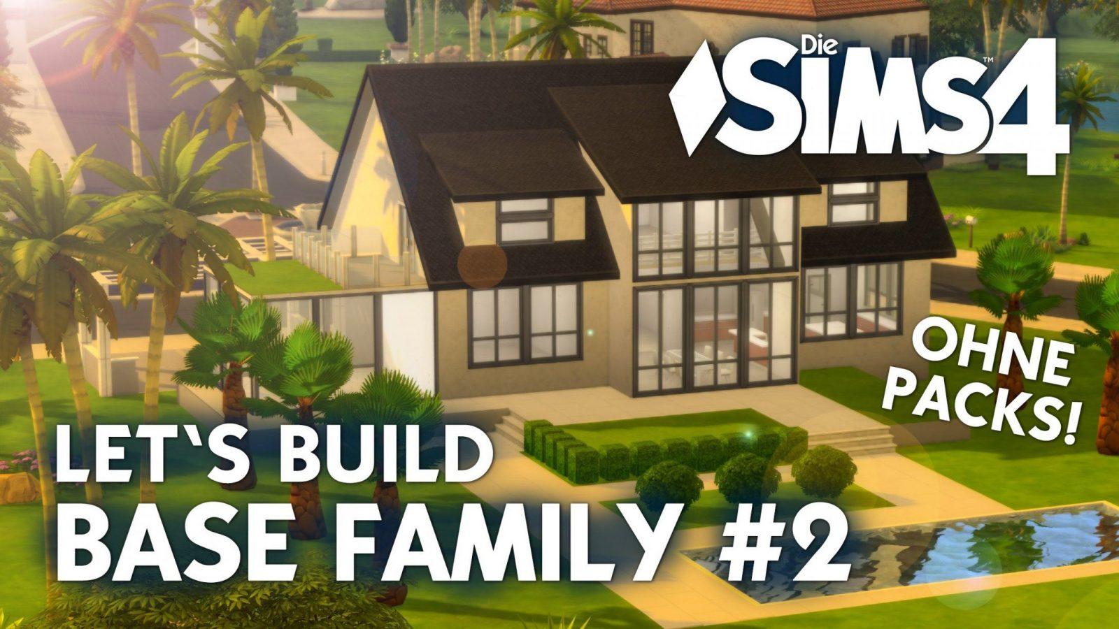 Die Sims 4 Haus Bauen Ohne Packs Base Villa 1 Grundriss Deutsch Von