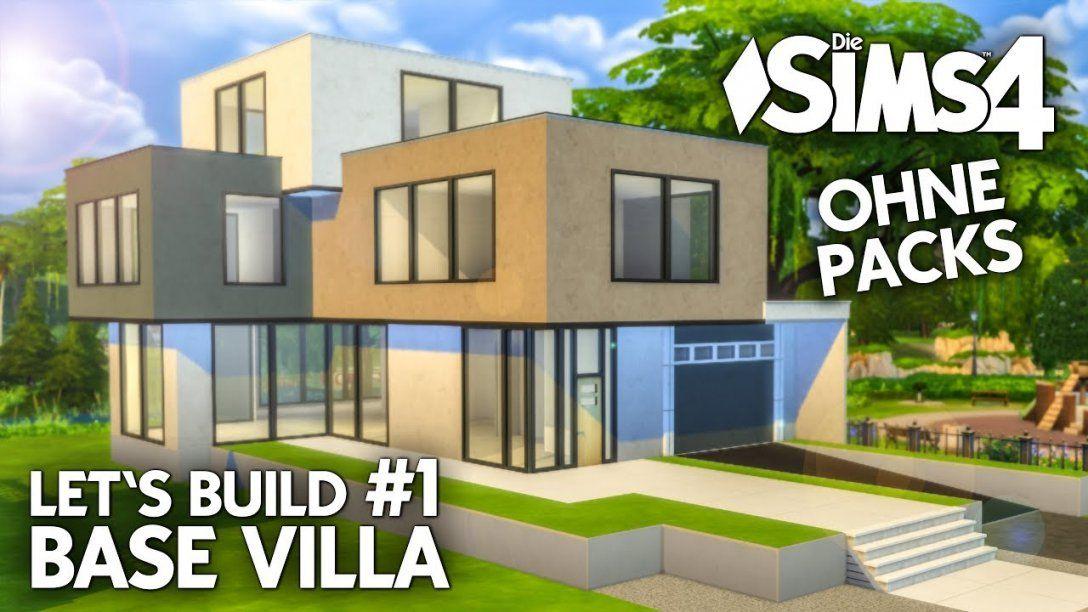 Die Sims 4 Haus Bauen Ohne Packs  Base Villa 1 Grundriss (Deutsch von Sims 4 Haus Bauen Bild