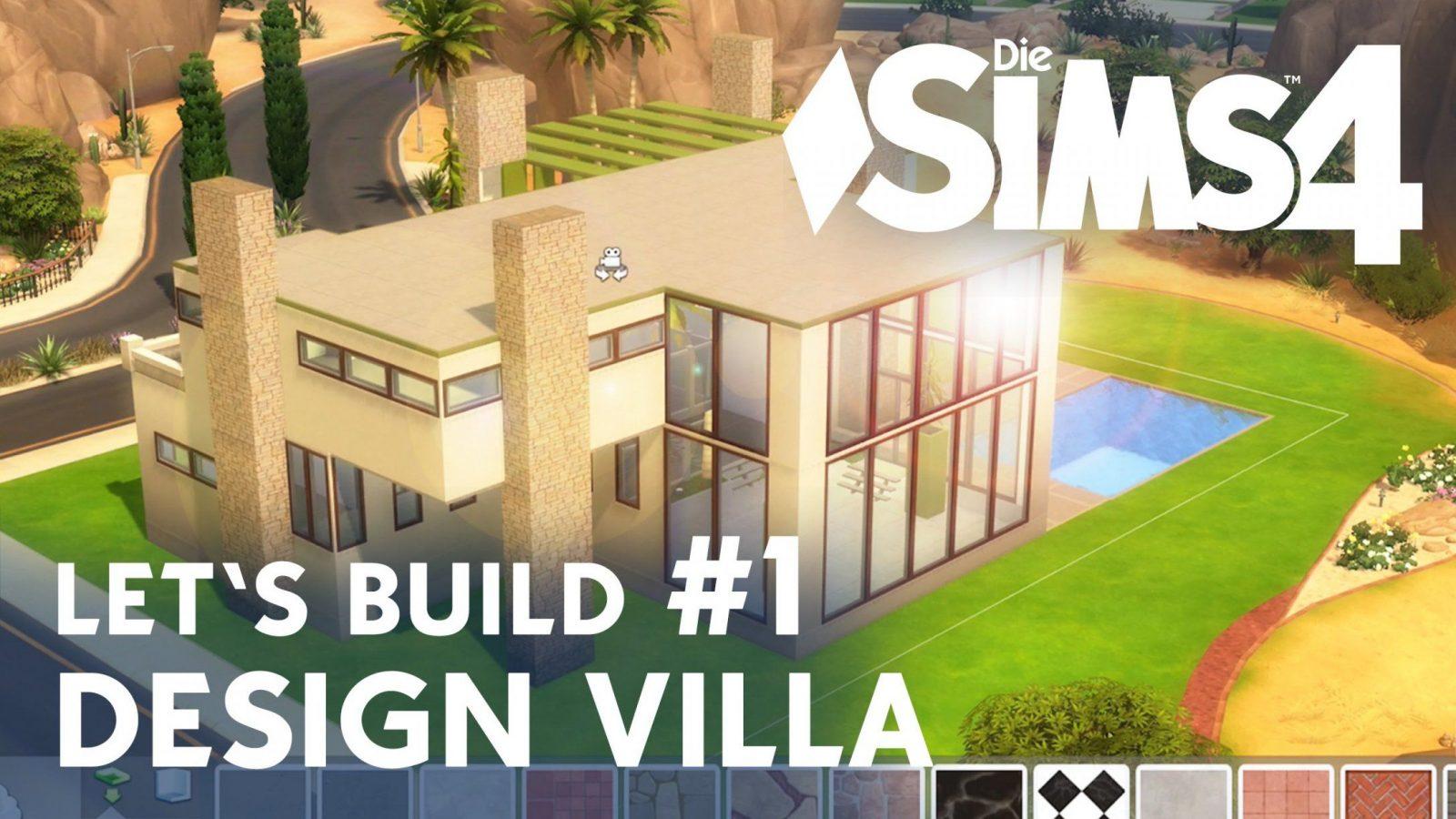 die sims 4 let 39 s build design villa 1 idee grundriss youtube von sims 4 h user bauen ideen. Black Bedroom Furniture Sets. Home Design Ideas