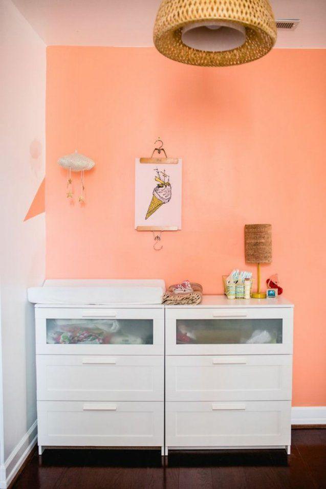 Die Wandfarbe Apricot  35 Ideen Und Tipps Zum Kombinieren von Wandfarbe Apricot Schöner Wohnen Bild