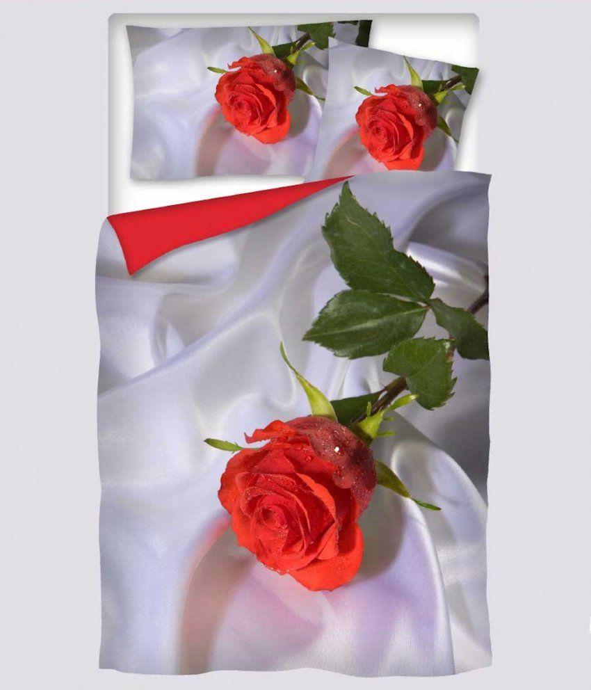 Digitaldruck Bettwäsche Satin Silk Rose  5% Skonto Bei Vorauskasse von Bettwäsche Mit Rosenmotiv Bild