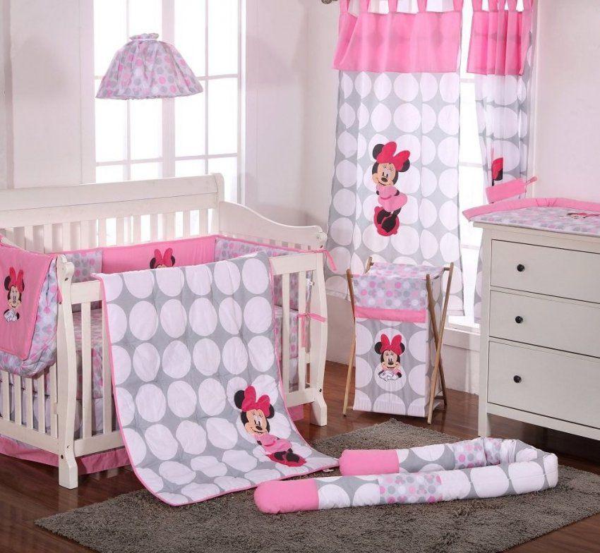 Disney Baby Minnie Mouse Polka Dots 4 Piece Crib Bedding Set Baby
