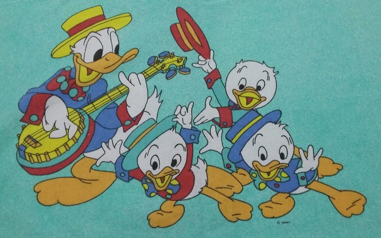 Disney Bettwäsche Bedding Bedlinen Donald Duck Vintage 70S 80S von Donald Duck Bettwäsche Photo