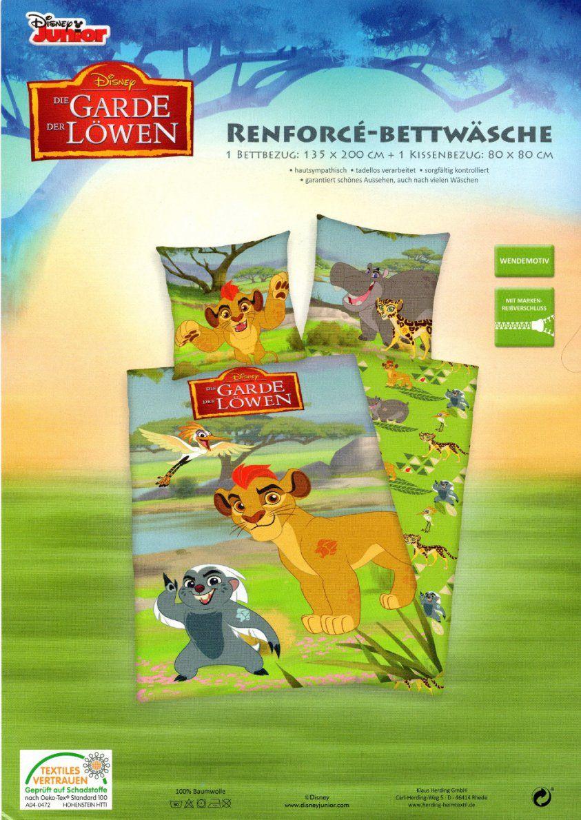 Disney Bettwäsche Garde Der Löwen  135 X 200Cm + 80 X 80Cm von Garde Der Löwen Bettwäsche Bild