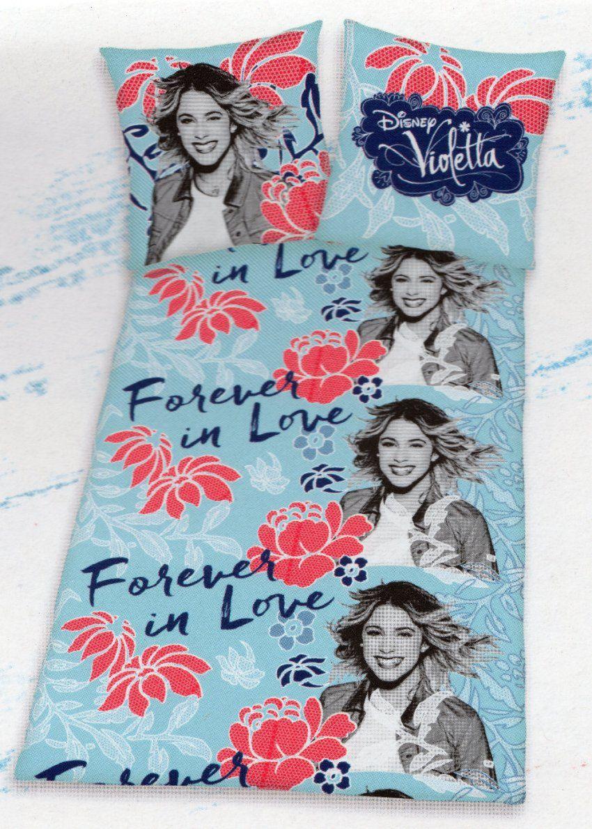 Disney Bettwäsche Violetta Forever In Love  135X 200Cm + 80X 80Cm von Bettwäsche Von Violetta Photo