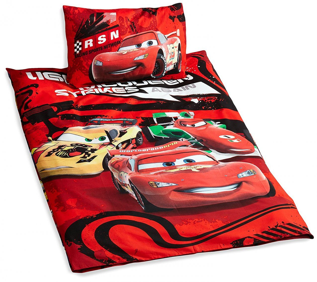 Disney Cars Bettwaesche Sets  Dibinekadar Decoration von Bettwäsche Cars 135X200 Bild