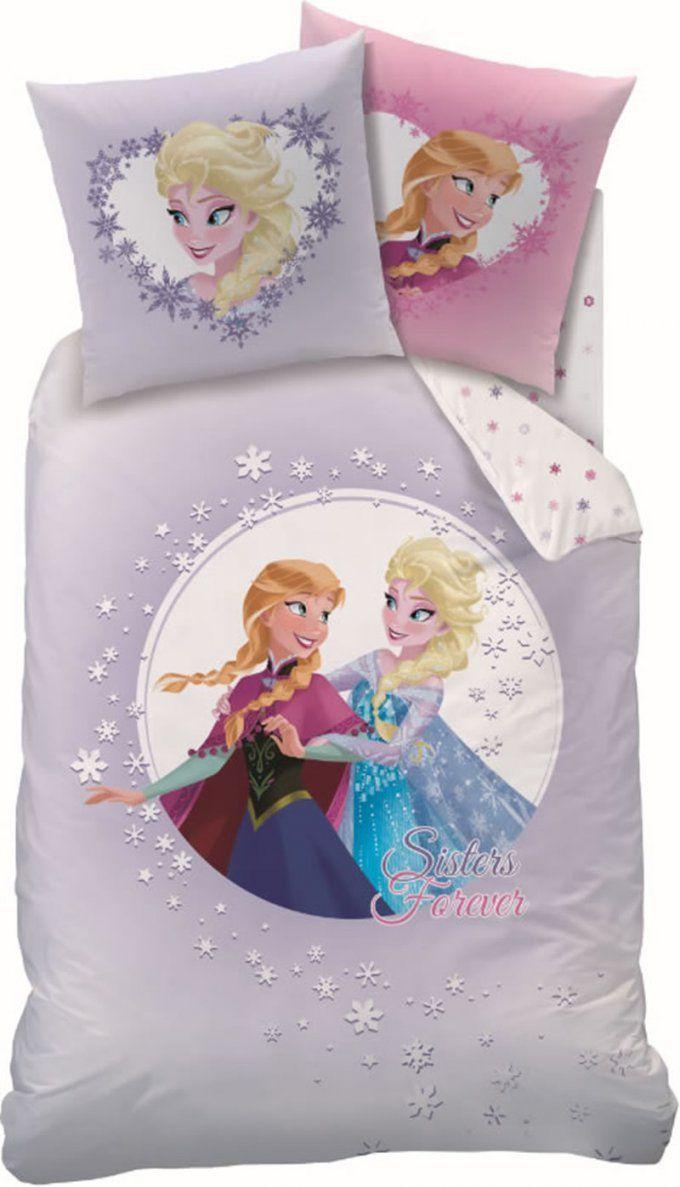 Disney Die Eiskönigin  Frozen Biberbettwäsche Sisters Forever Bei von Anna Und Elsa Bettwäsche Biber Photo
