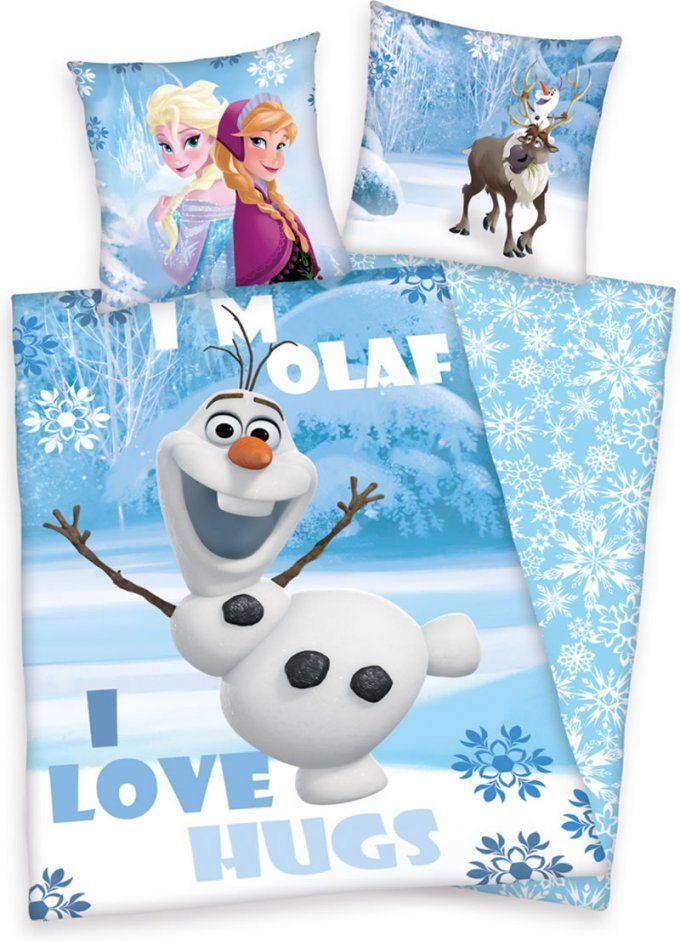 Disney Die Eiskönigin  Frozen Flanellbettwäsche Olaf Bei Papiton von Elsa Bettwäsche Biber Photo