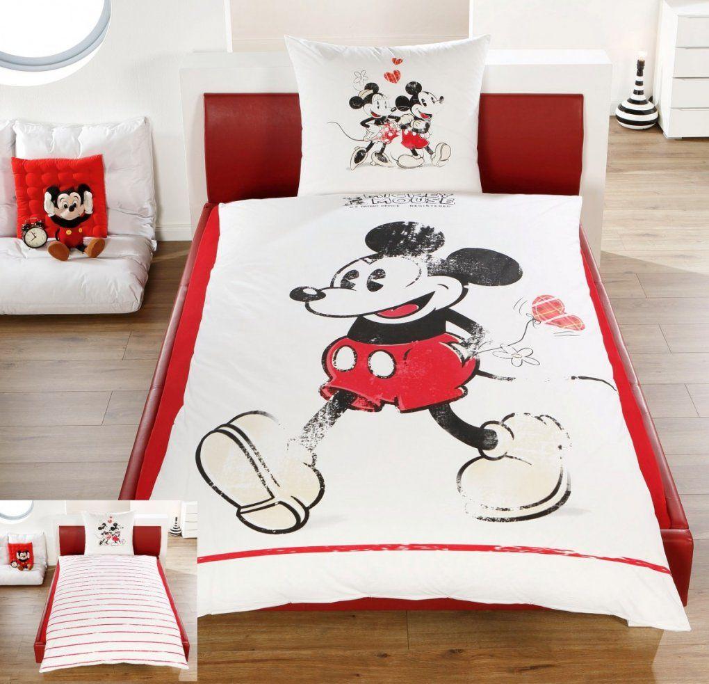 Disney Linon  Renforcé Wende Bettwäsche Mickey + Minnie Mouse von Micky Mouse Bettwäsche Bild
