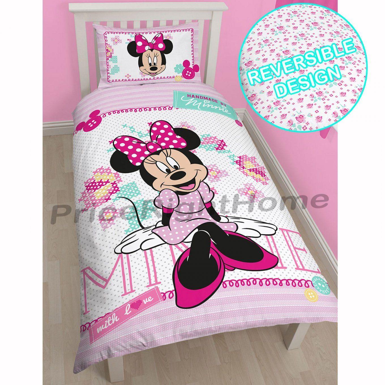 Disney Minnie Maus Offiziell Einzeln Doppel & Kinder Bettbezüge von Bettwäsche Mini Maus Bild
