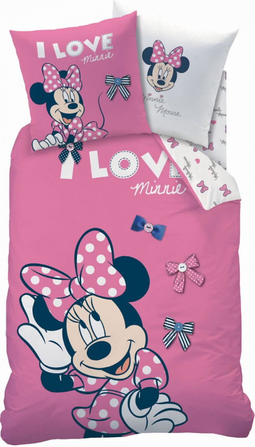 Disney Minnie Mouse Flanellbettwäsche Stylish Rose Bei Papiton von Mini Mouse Bettwäsche Photo