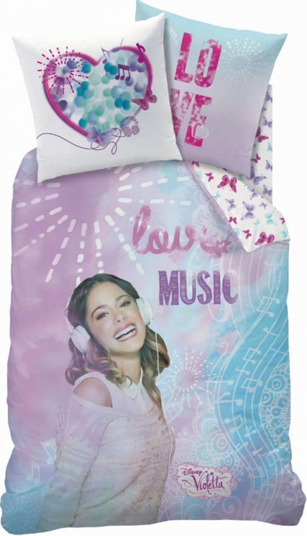 Disney Violetta Biberbettwäsche I Love Music Bei Papiton Bestellen von Violetta Bettwäsche Biber Photo