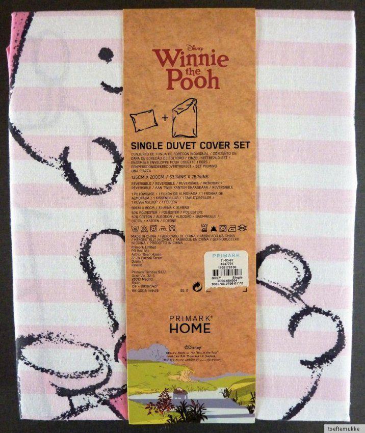 Disney Winnie The Pooh Wende Bettwäsche Set 135x200 Cm Winnie Puuh