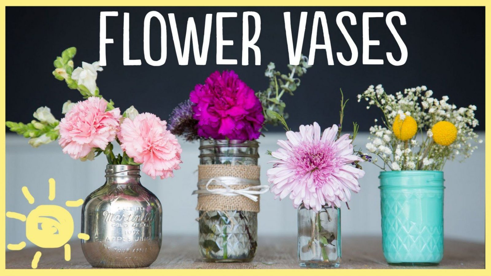 Diy  3 Gorgeous Flower Vases (So Easy)  Youtube von Mason Jar Flower Vases Bild