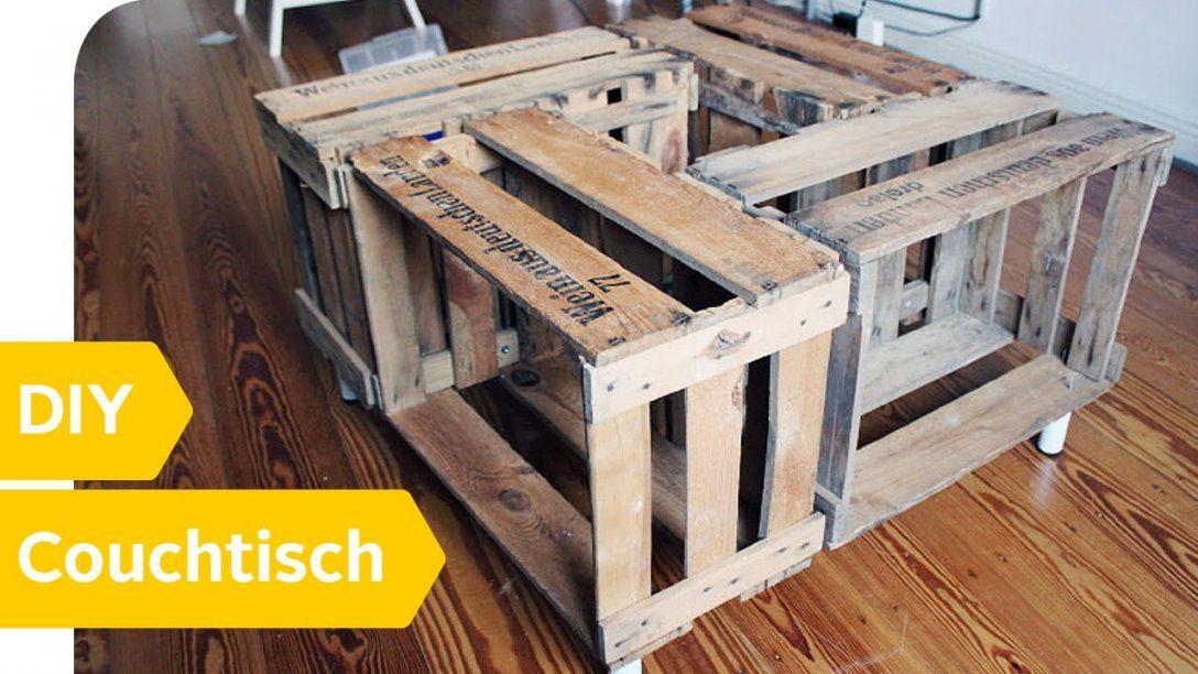 Diy Anleitung – Couchtisch Aus Alten Weinkisten Einfach Selber Bauen von Couchtisch Selber Bauen Holz Photo