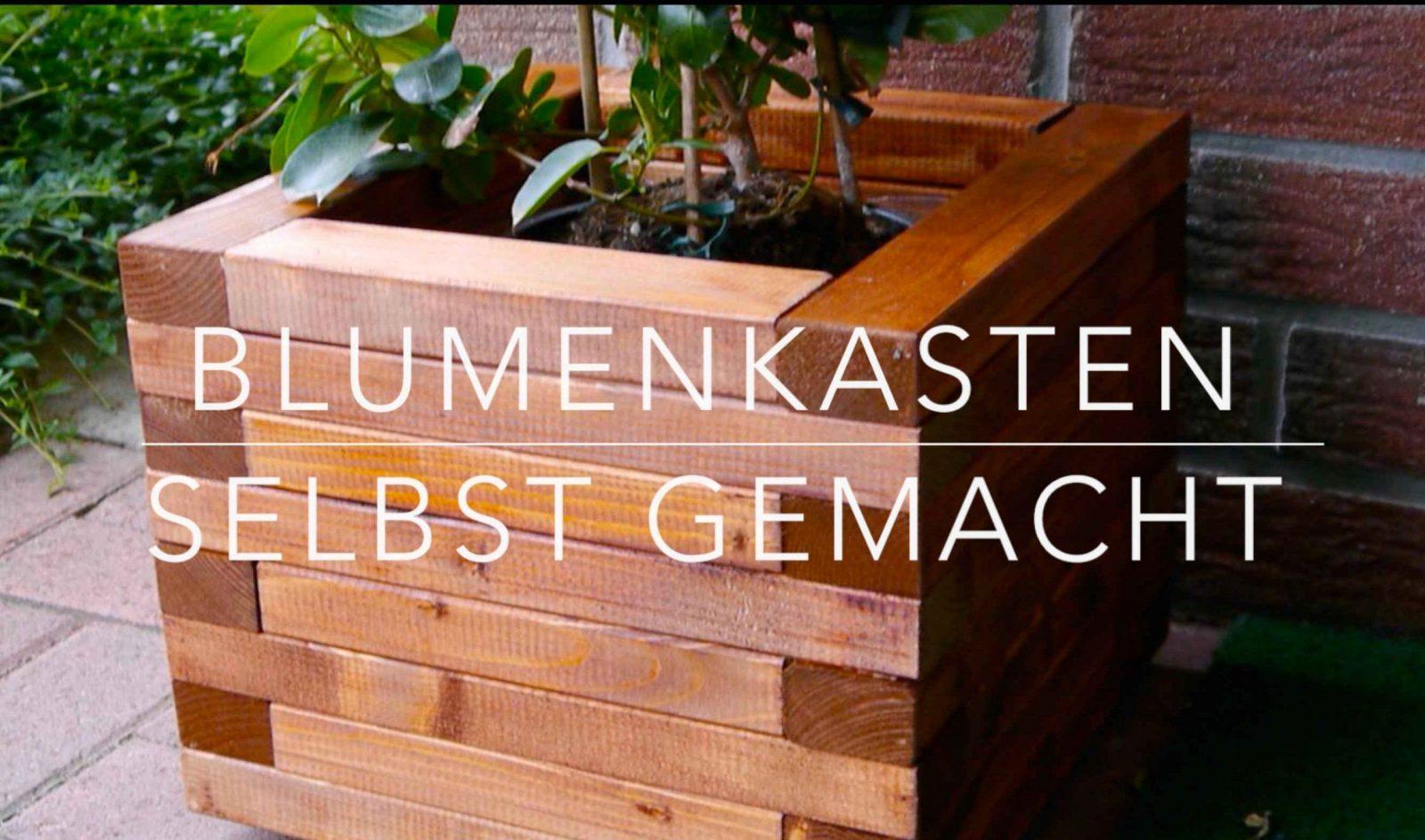 Diy Blumenkasten Aus Holz Kinderleicht Bauen  Youtube von Sichtschutz Mit Blumenkasten Selber Bauen Photo