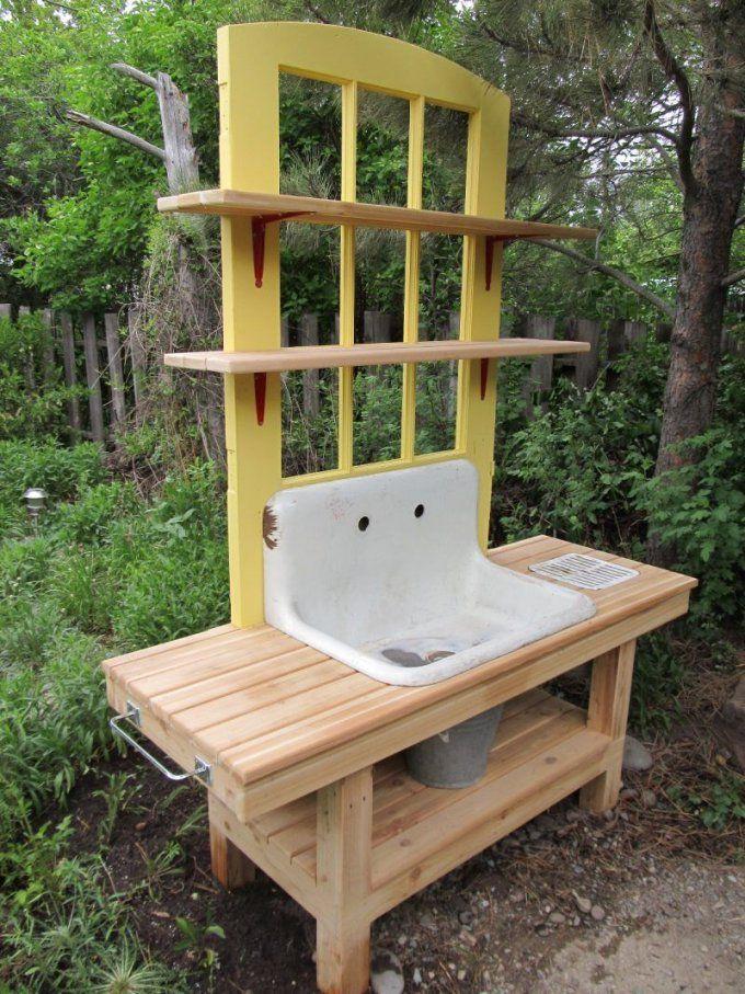 Diy Deko Im Garten 51 Upcycling Ideen  Waschbecken Selber Bauen von Garten Waschbecken Selber Bauen Bild