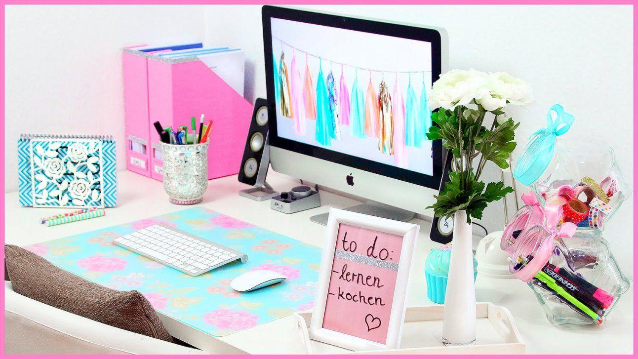 Diy Desk Makeover  Süße & Nützliche Organisation & Dekoration Für von Schreibtisch Deko Selber Machen Photo