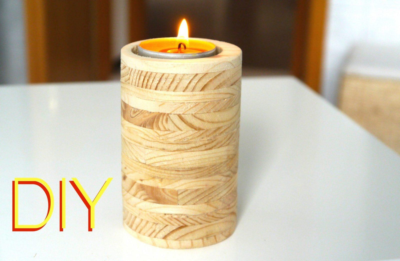 Diy ☆ Kerzenständer Aus Holz Anleitung  Youtube von Kerzenständer Selber Machen Holz Bild