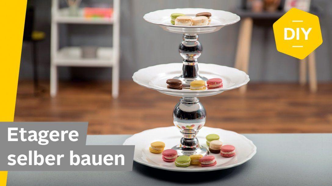 Diy Etagere Selber Machen Mit Tellern – Super Einfach Ohne Bohren von Etagere Selber Bauen Anleitung Bild