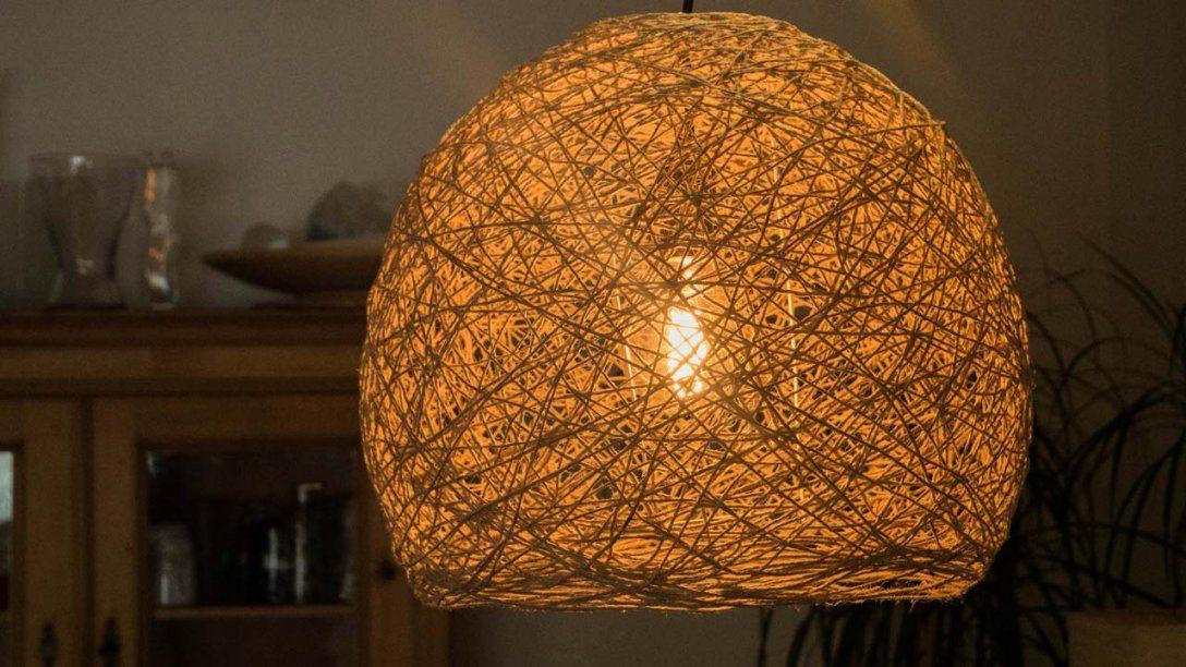 Diy Fadenlampe  Lampenschirm Selber Machen  Mademyself  Dein von Lampenschirm Selber Machen Material Bild