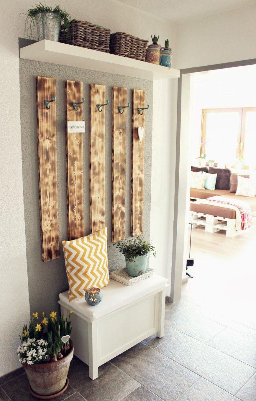 Diy Garderobe  S'bastelkistle  Einrichtung  Pinterest  Diy von Garderobe Selber Bauen Design Bild