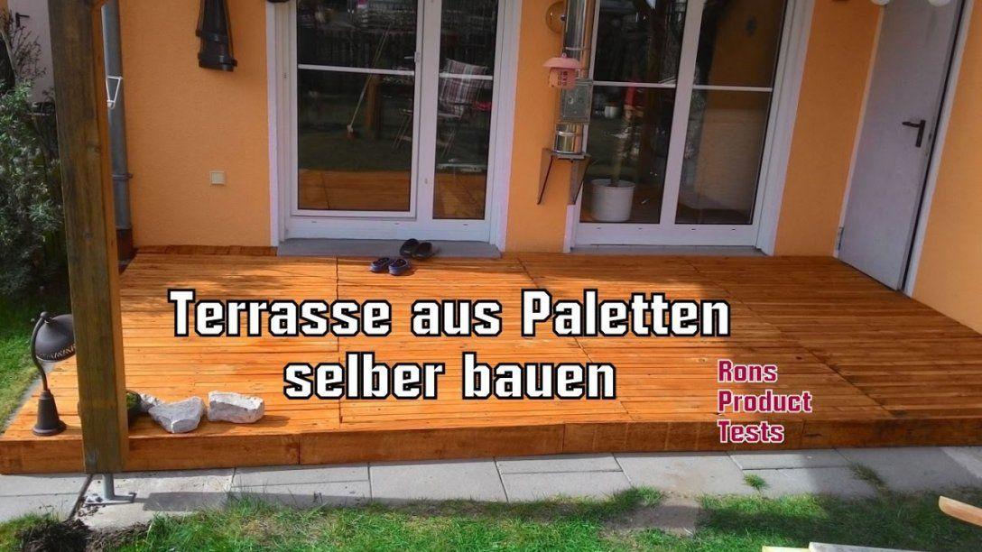 Diy Holz Terrasse Aus Paletten Selber Bauen  Schritt Für Schritt von Terrasse Bauen Mit Europaletten Photo