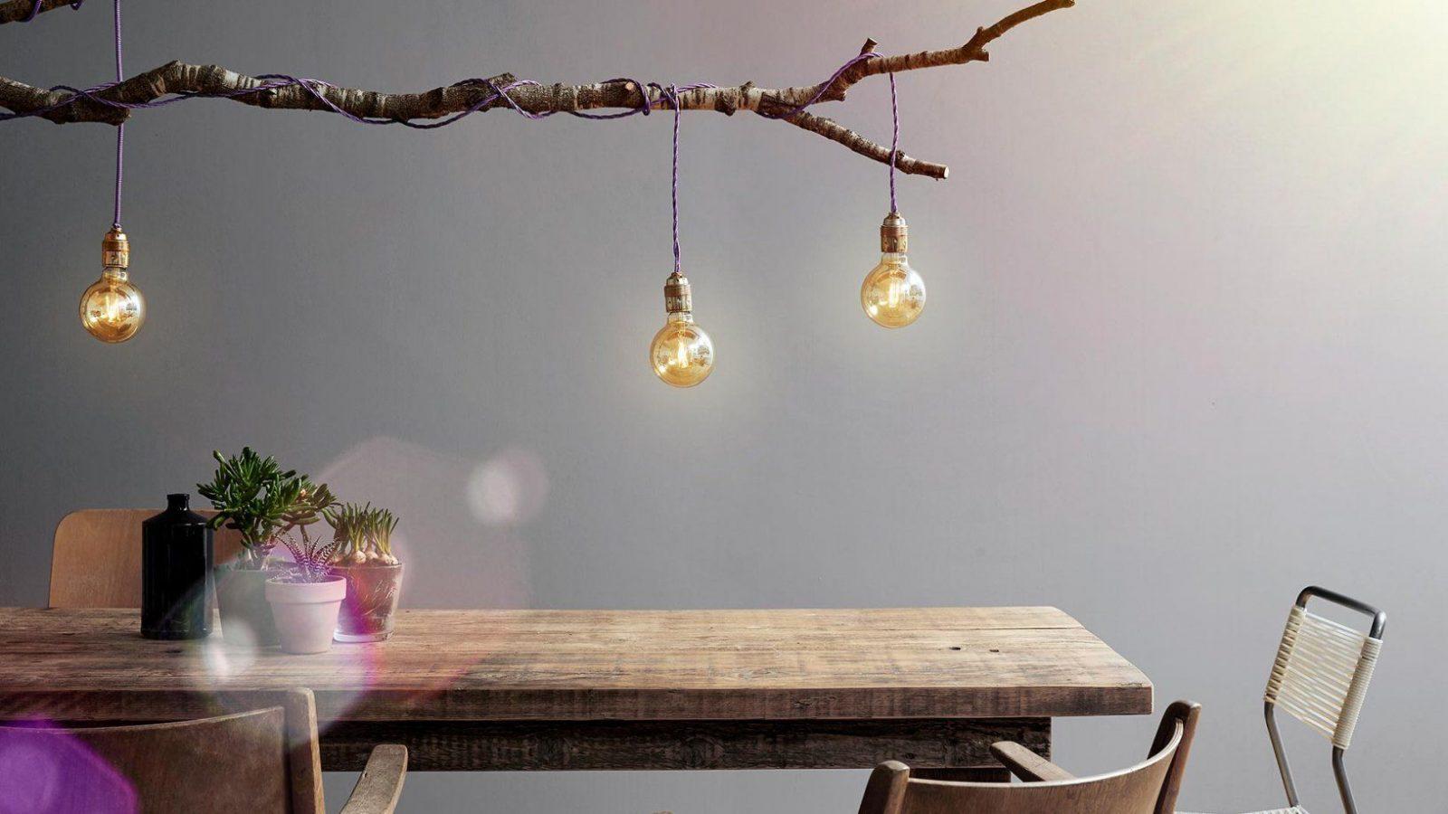 Diy In Wenigen Schritten Zur Eigenen Designerlampe von Glühbirne Lampe Selber Machen Bild