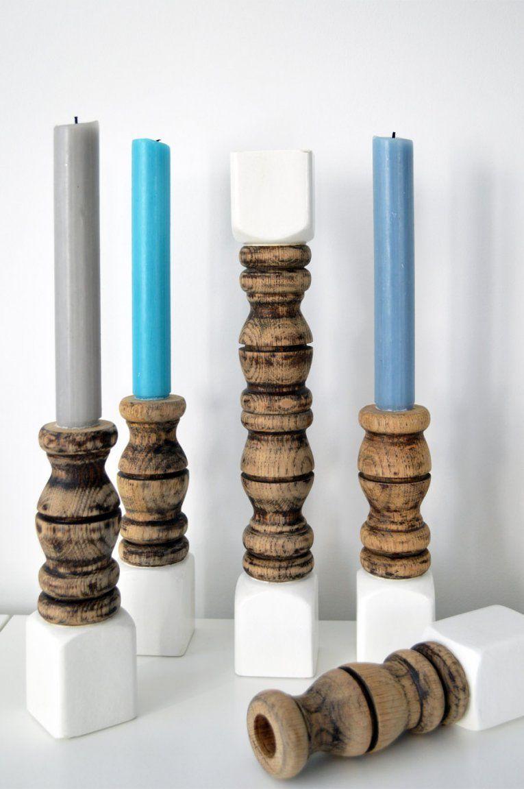 Diy  Kerzenständer Aus Holz Selber Machen von Kerzenständer Selber Machen Holz Photo