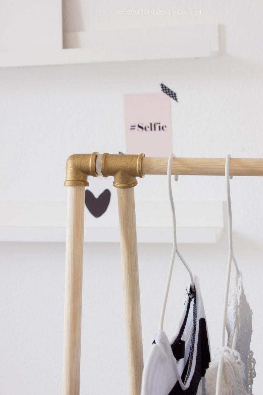 kleiderst nder aus rohren selber bauen haus design ideen. Black Bedroom Furniture Sets. Home Design Ideas