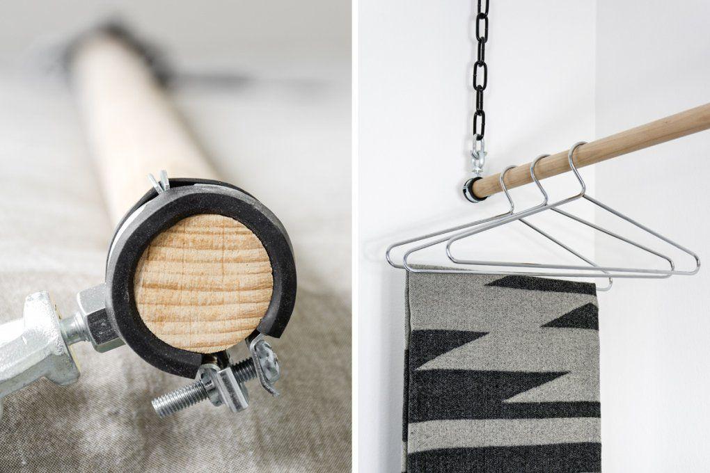 Diy  Kleiderstange Und ♥Lich Willkommen Emma*  Mxliving von Kleiderstange Aus Holz Selber Bauen Photo