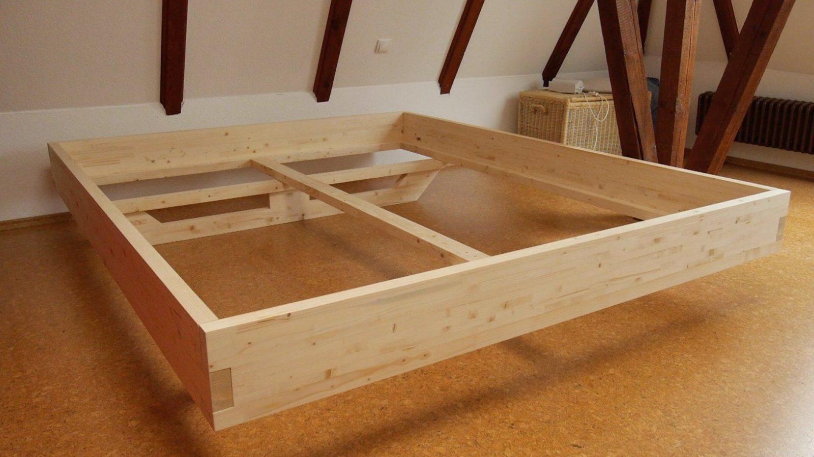Diy Massivholzbett Selber Bauen  Youtube von Bett Aus Balken Bauen Photo