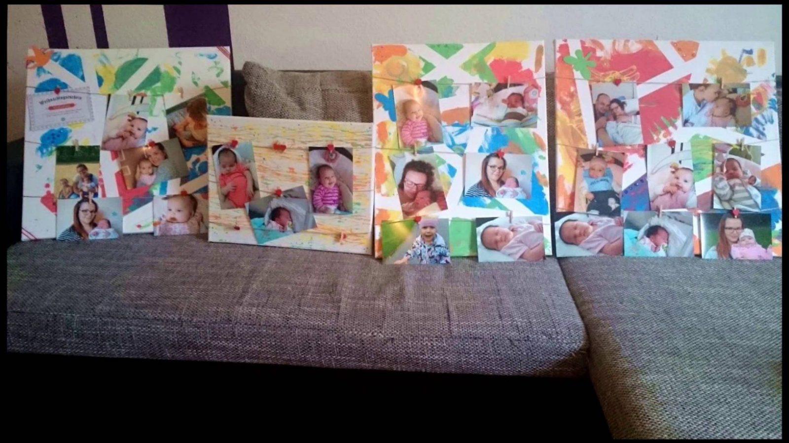 Diy  Mein Kind Malt Auf Leinwänden  Geschenkidee Taniisblog von Leinwand Gestalten Mit Kindern Bild